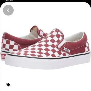Vans original checkerboard slip on sneakers 8.5